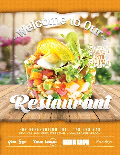 2390 best Free PSD Flyer Templates images on Pinterest Free psd - food flyer template