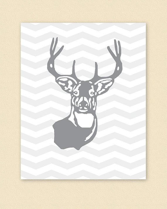 Deer Head Poster