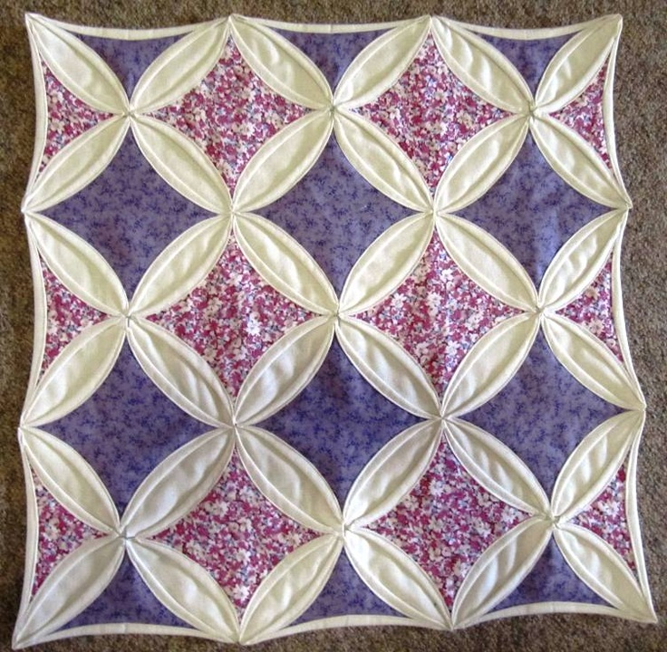 17 best images about cathedral window quilt on pinterest for Window quilt