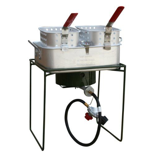 Sportsman Series SBCOOK18 Double Basket Outdoor Cooker and Fryer with Single Burner - http://www.outdoorcookinggrills.com/sportsman-series-sbcook18-double-basket-outdoor-cooker-and-fryer-with-single-burner/