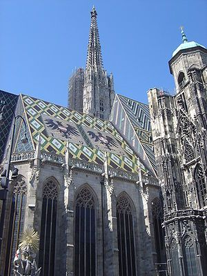 St. Stephen's Cathedral, Vienna.  The oldest church I've ever visited - what a site. Year: 1147