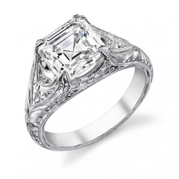 25+ Best Ideas About Asscher Cut Diamond Ring On Pinterest