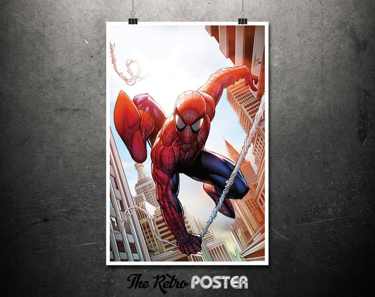The Amazing Spiderman - Spider-Man Comics, Spiderman, Comic Book Art, Marvel Poster, Kids Prints, Boys Room Decor, Boys Bedroom, Boys Prints by TheRetroPoster on Etsy