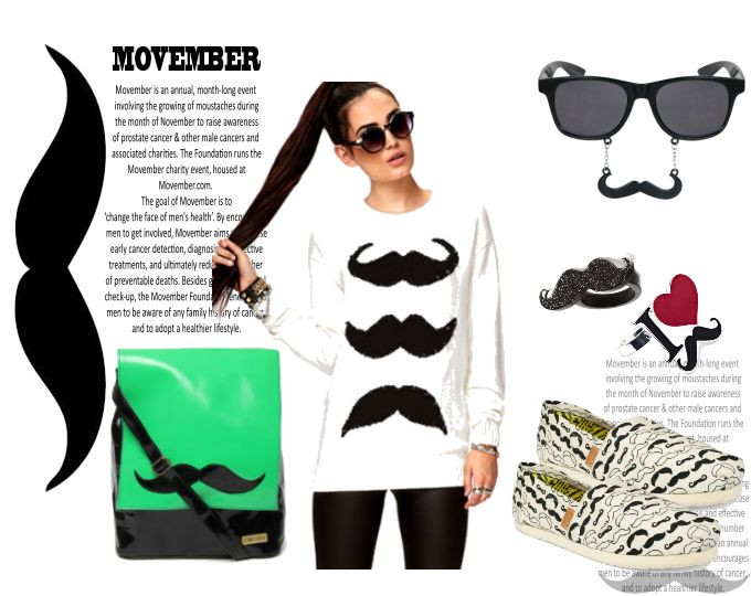 Movember Rain - User Love! Ensemble supporting Movember!  @Myntra.com #claires #forever21 #macys
