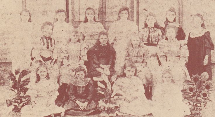 Pupils at the school conducted by Mrs Agnes Watt, c.1890. One of the dwelling (No. 57 Darghan Street) became the Lyndhurst Private School run by Miss Agnes Watt and it continued to function until 1908. The property changed hands several times after Asher's death in 1909, first to Joseph McFarland and then in 1925 to Aubrey Bartlett, whose widow sold it to the Department of Main Roads in 1972.