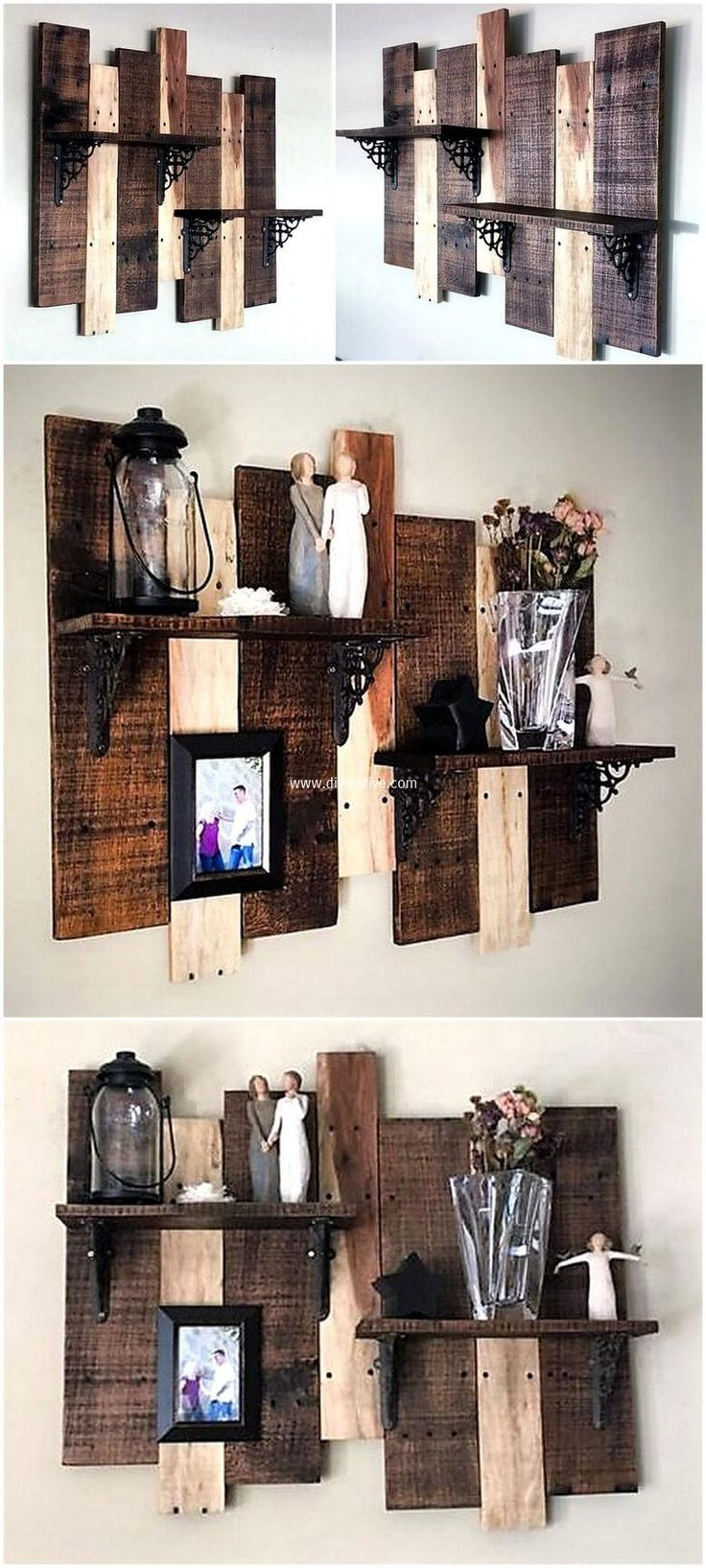 444 best Pallet Shelves images on Pinterest