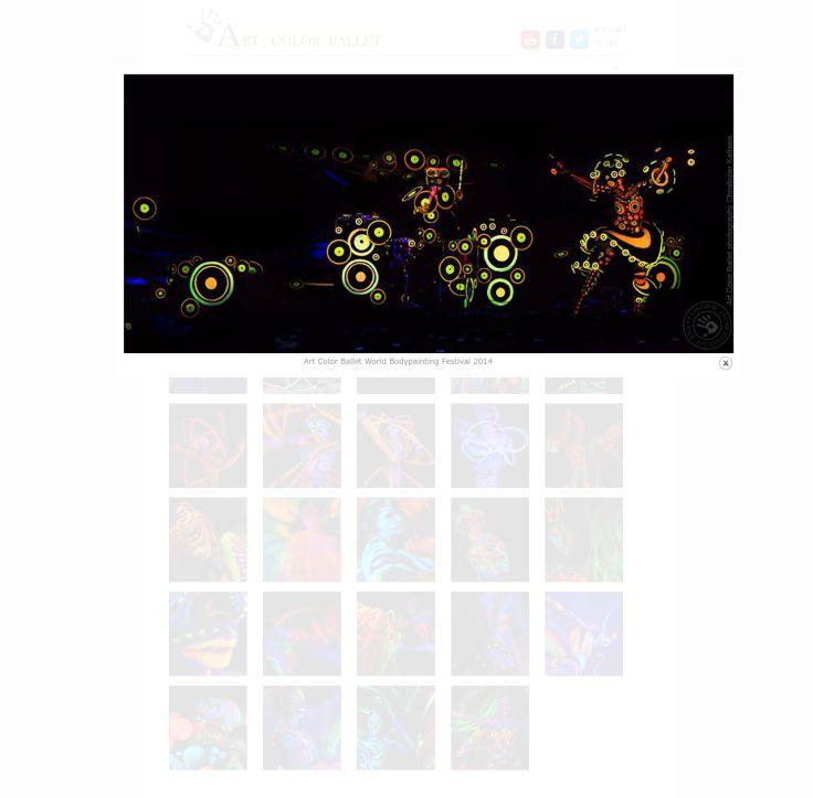 Bodypainting Fluoro Show UV to niezwykle efektowne wykorzystanie możliwości światła UV. Spektakle UV w wykonaniu Art Color Ballet rozbudowane są o niekonwencjonalne rozwiązania fosforyzujących rekwizytów i scenografii.