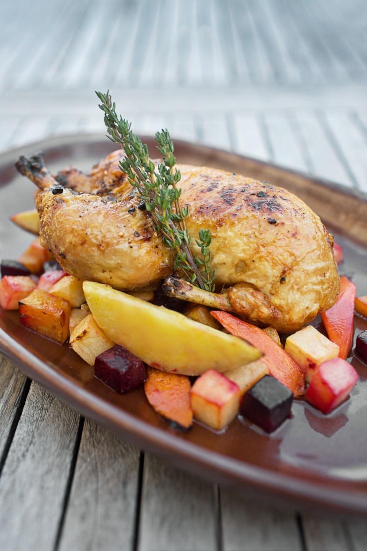 oven roasted free-range chicken - fhg rub - pan roasted garlic au jus ...