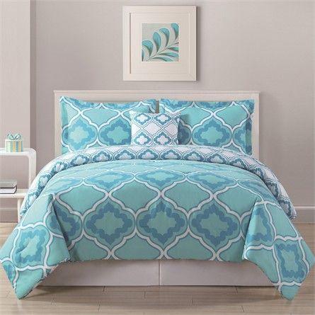 Avery Geo Aqua Comforter Set #rosenberryrooms