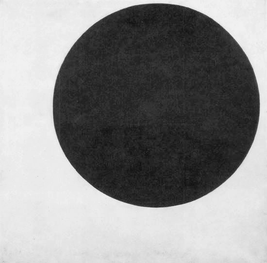 Suprematist Composition, Black Circle, Kazimir Malevich, 1915.