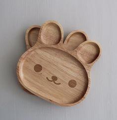 """Kinder-Holzteller+""""Bär"""""""