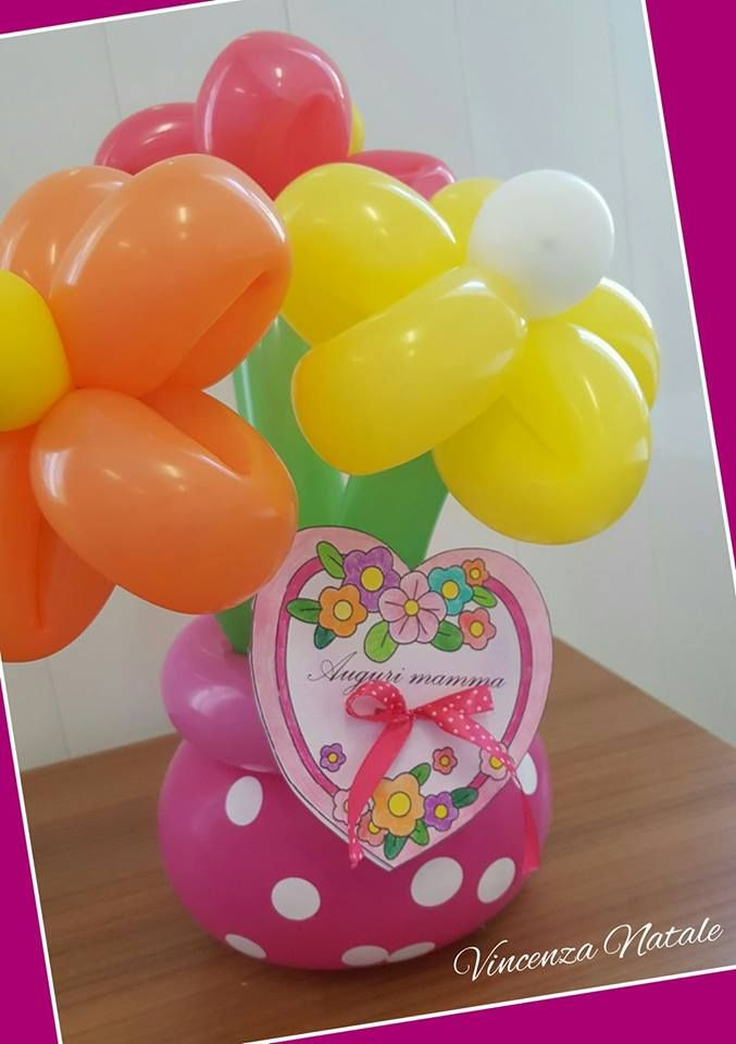 Balloon art - bouquet di fiori con palloncini - Festa della mamma