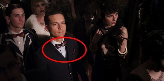 FOR THE BOYS AT THE PARTY The bow tie/handkerchief combo. | 12 Gentlemen's Fashions From The Great Gatsby That Are Back
