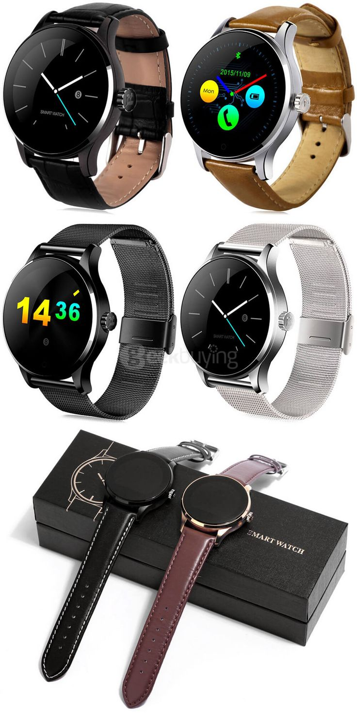 K88H Smart Bluetooth Watch Heart Rate Monitor MTK2502 Smartwatch
