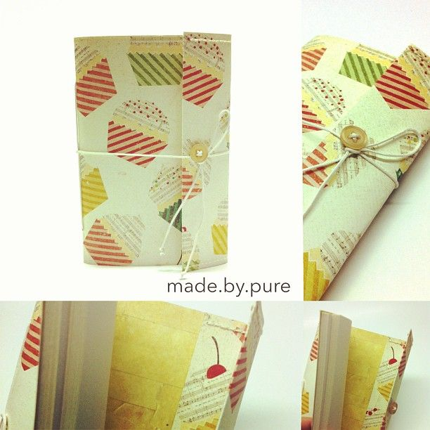 Handmade notebook from cardstock paper. My handmade book collection :3 #handmade #notebook #handmadenotebook