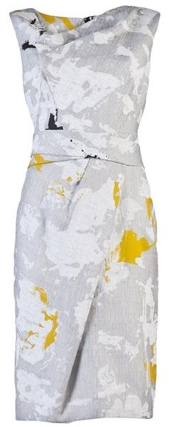 Color splotches sheath dress.