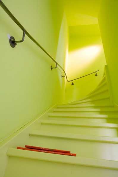 Colorful stairway. One of a series of interior photo's in a house in Amsterdam. Photography by Jansje Klazinga JKF®
