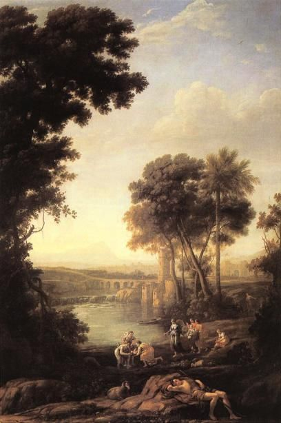 Landscape with the Finding of Moses by Claude Lorrain