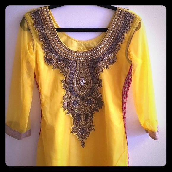 New Indian dress Three piece salwar kameez dress. Comes with pants and dupatta. Dresses Maxi