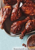 Фото к рецепту: Курица под соусом барбекю