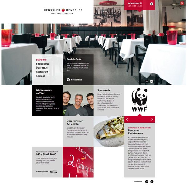 Web Design Inspiration - Henssler & Henssler #Design #Grid #Web