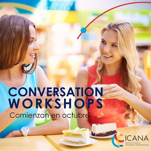 Como en el café, pero en inglés. En octubre comienzan nuestros Conversation Workshops. Inscribite llamando al 0810-345-5006. #LetsTalk