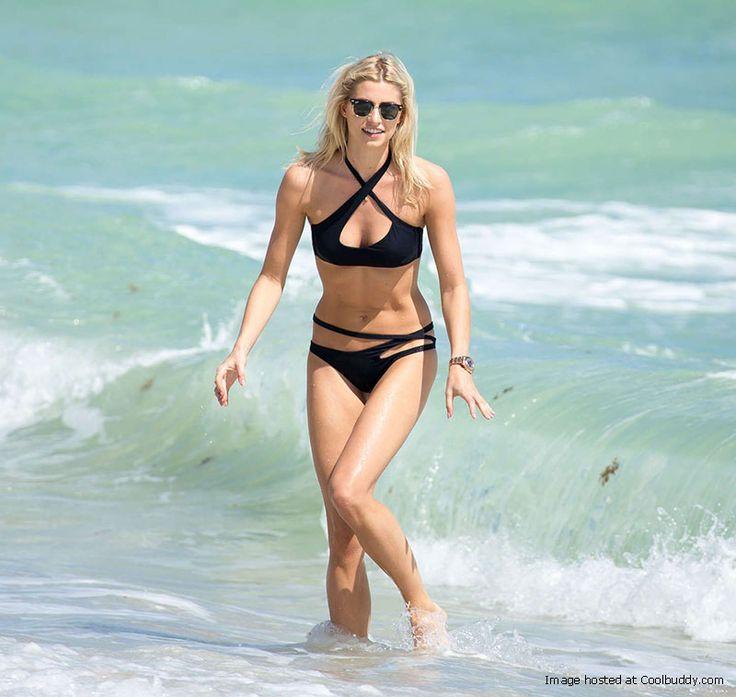 Lena Gercke Bikini Candids on Miami Beach