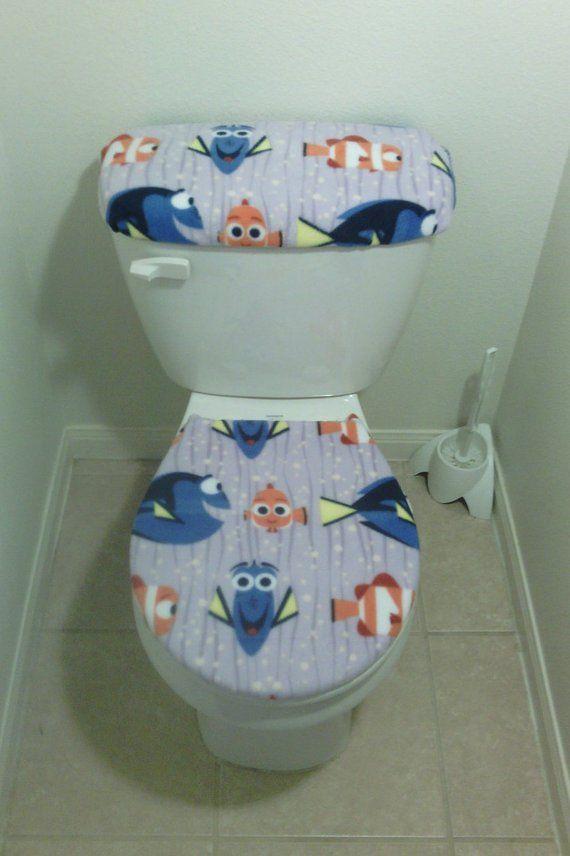 Disney Finding Dory Nemo Fish Fleece Fabric Toilet Seat