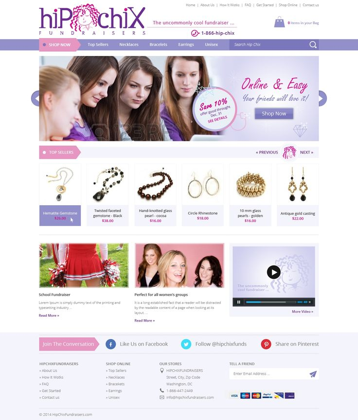 Women's Jewelry Fundraising Site Redesign