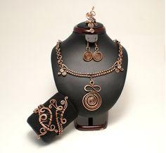 Koperen+sieraden+instellen+koper+earring+koperen+door+BeyhanAkman