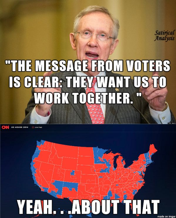 harry reid has been an obstructionist at o's bidding. As of Aug. 2014 he has 352 (THREE HUNDRED FIFTY TWO) House bills that he won't put up for a vote before the/his Dem. Senate. NOW, the Republicans can more them forward!