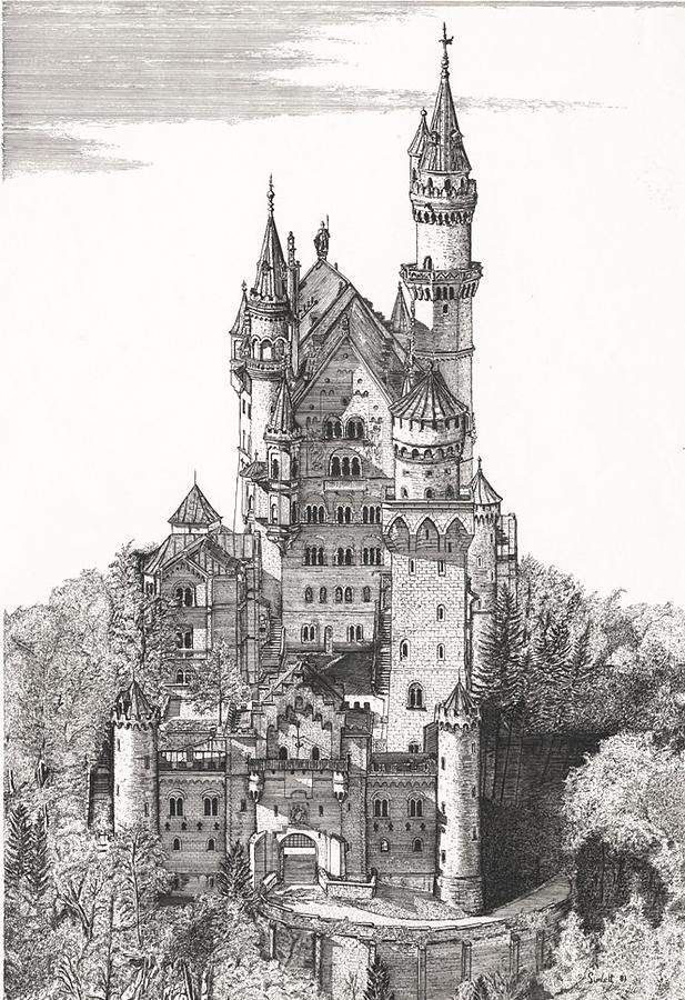 Castle Illustrations Google Search Castle Drawing