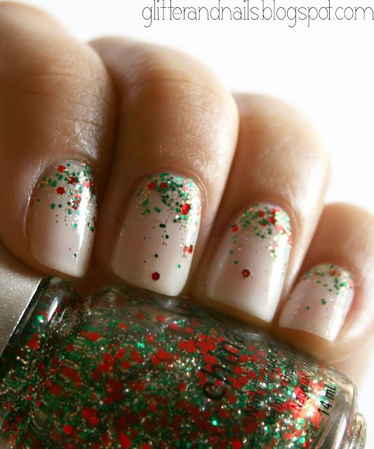 Glitter and Nails: Essie Waltz + China Glaze Party Hearty = Christmas nails