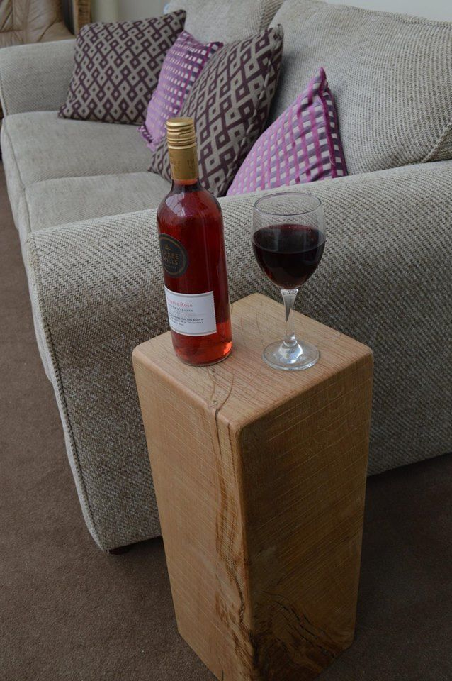 Solid oak beam side tables/lamp stands - range of sizes/finishes from £12.99