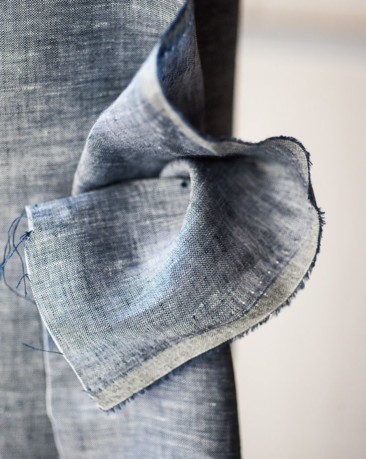 Dark Linen Chambray | Merchant & Mills. Chambray is a plain weave fabric, with a colored yarn in the warp and a white yarn in the weft.