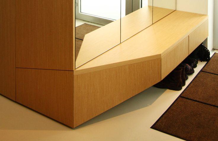 Návrh interiéru, detail botníkovej skrinky - rodinný dom v Starom Meste, Bratislava - Interiérový dizajn / Interior detail by Archilab