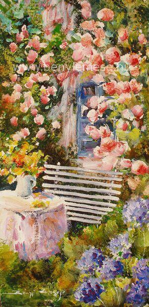 Pihenő a kertben