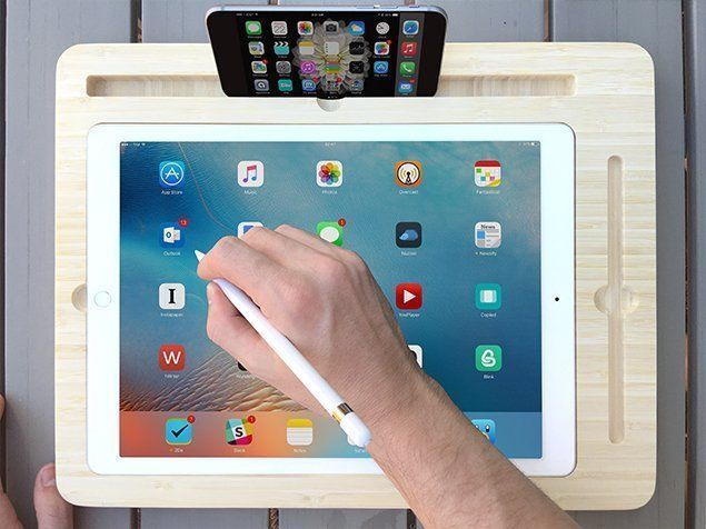 New display Dock For Apple iPad Pro 12.9″ with Apple Pencil Slot premium bamboo #UnbrandedGeneric