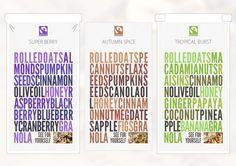 Fairtrade Granola Branding by Dominic D'Alanno, via Behance