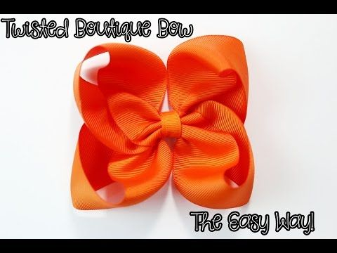 Twisted Boutique Bow tutorial (Easy Way) HOW TO MAKE Twisted Boutique Bow – YouT…