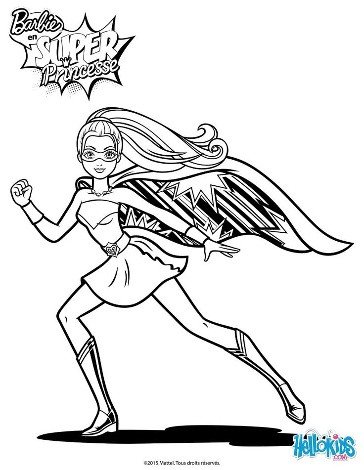 Barbie super power on the run barbie coloring page 311