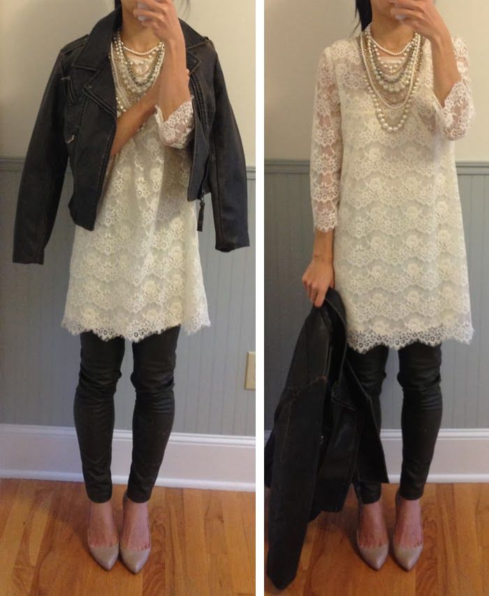Lace and Leather.....I would so wear this! Even if it is to young for me!
