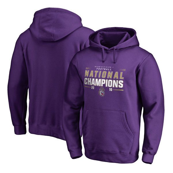 James Madison Dukes Fanatics Branded 2016 FCS Football National Champions Pullover Hoodie - Purple - $54.99