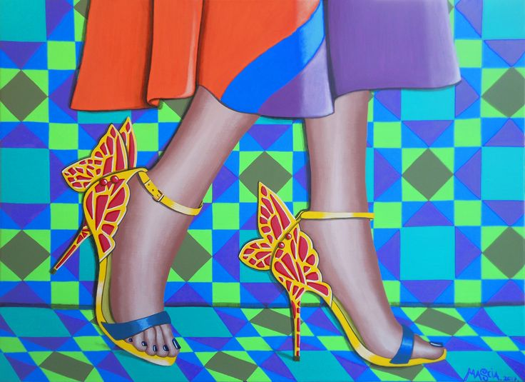 Butterfly Shoes 2 acrylic on canvas 70x50 cm 2017