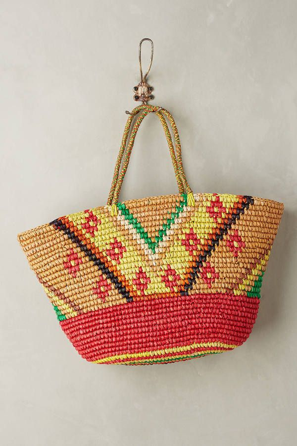 Frayed Sunshine Straw Tote