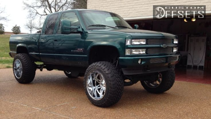 Wheel Offset 1997 Chevrolet C/k 1500 Series Super Aggressive 3 Suspension And Or Body Lift 9 Custom Rims