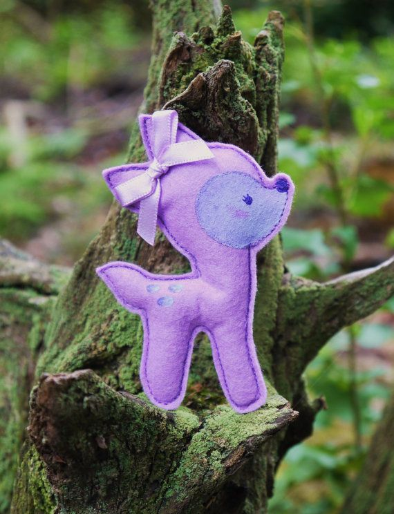 Kawaii lilac Bambi deer fawn hair clip or by FemmeJolieBoutique, £6.00