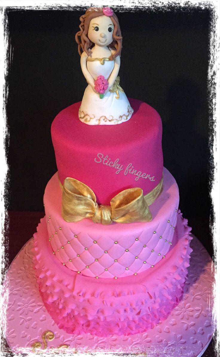 Bride theme birthday cake