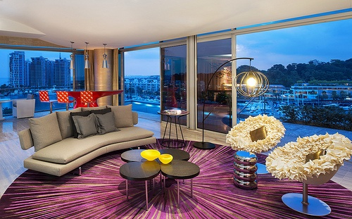 W Singapore Sentosa Cove—Fabulous WOW Suite - Living Room