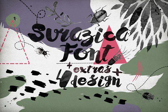 Surazica Font+4 Design by surazica on @creativemarket
